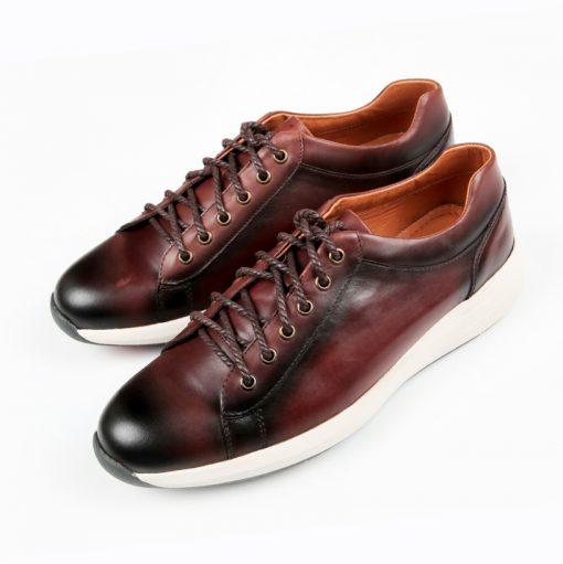 t2 giày da thật, giày da nam FTT leather
