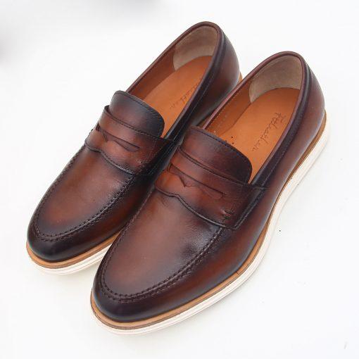 Giay da nam 9454 giày da thật, giày da nam FTT leather